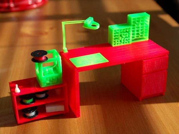 迷你工作台 3D打印模型渲染图