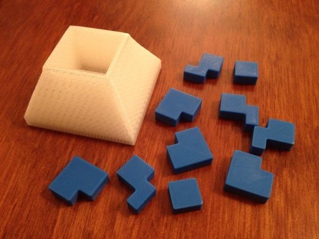 立方体拼图方块 3D打印模型渲染图