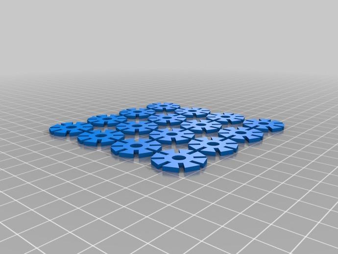 可堆叠的多边形
