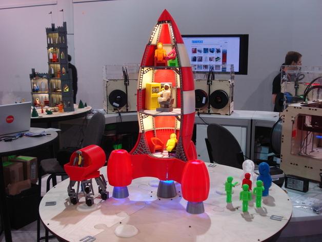 火箭玩具 3D打印模型渲染图