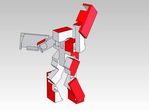 BlockBot玩具 3D打印模型渲染图