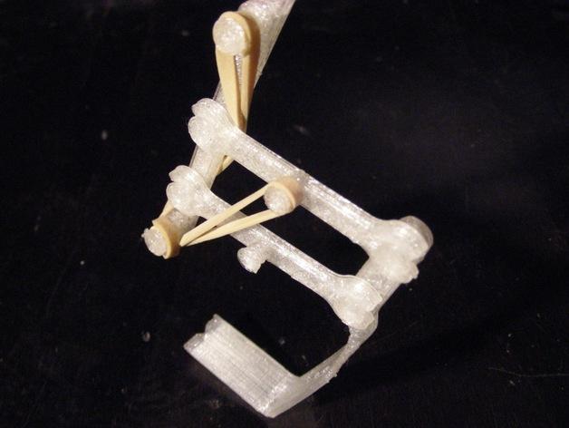 单腿弹跳蛙 3D打印模型渲染图