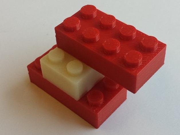 经典乐高方块 3D打印模型渲染图