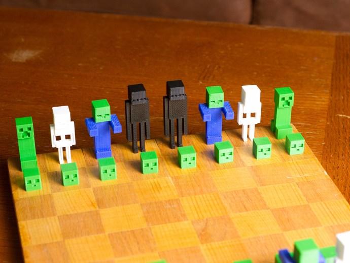 《Minecraft》系列象棋 3D打印模型渲染图