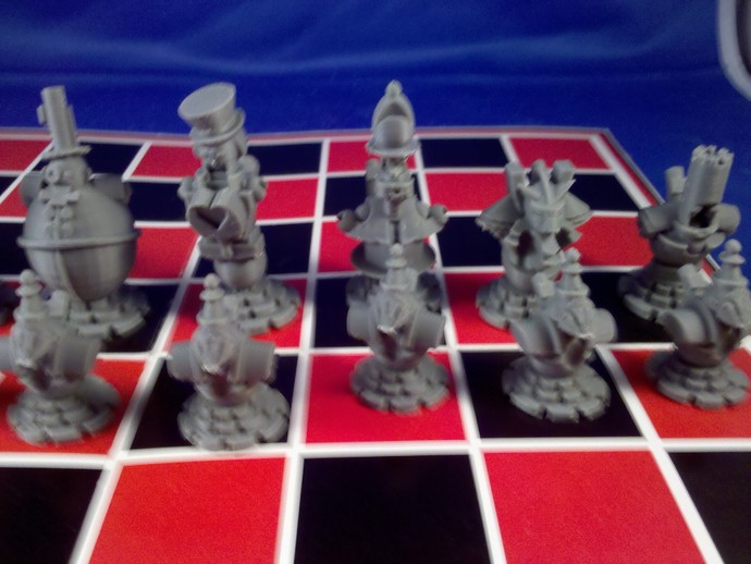 朋克风机器人棋子