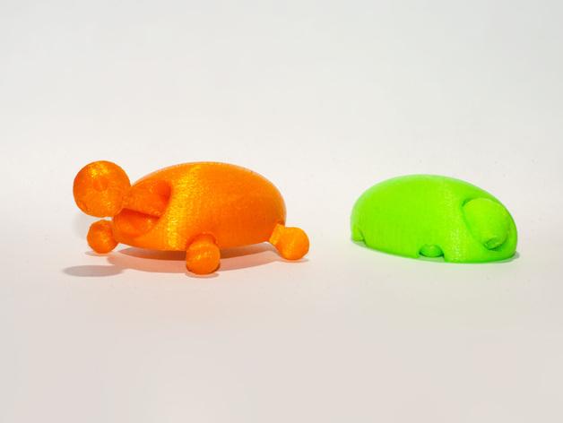 小乌龟 3D打印模型渲染图