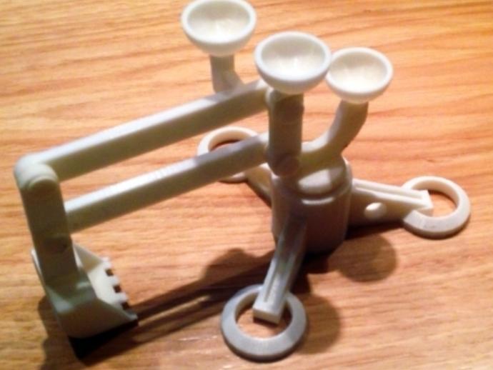 手指般大小的迷你挖掘机 3D打印模型渲染图