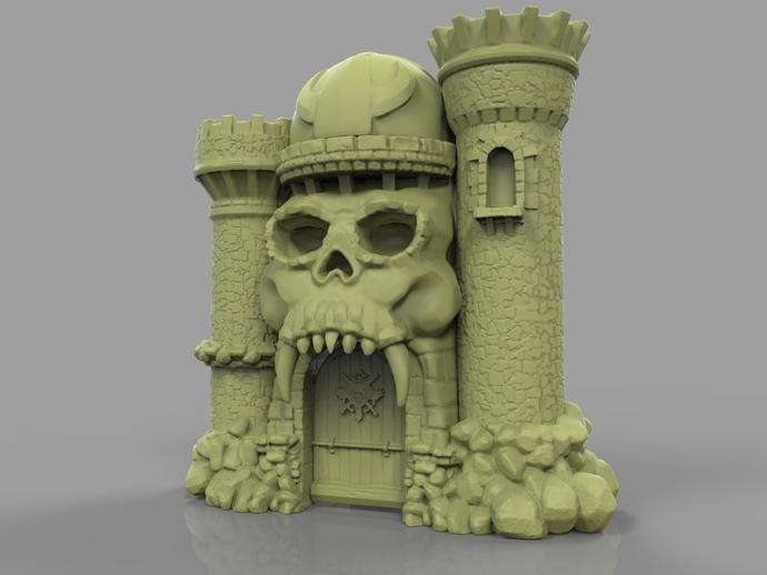 骷髅头城堡 3D打印模型渲染图