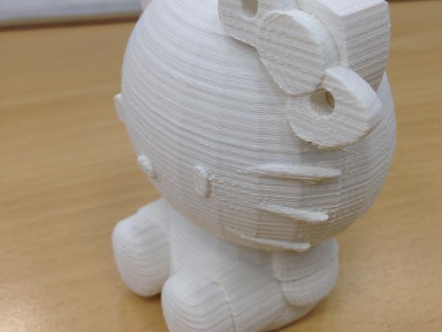 凯蒂猫 3D打印模型渲染图