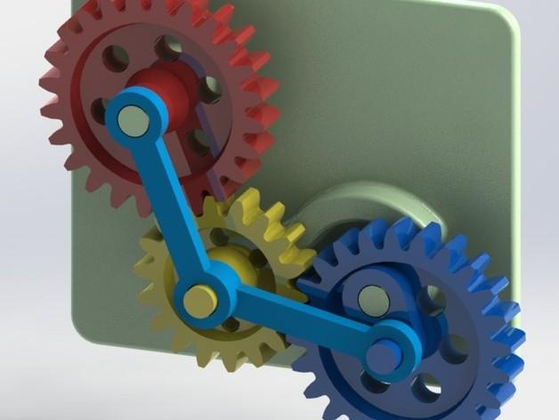 变速齿轮 3D打印模型渲染图