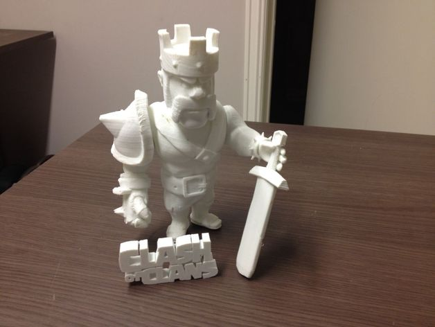 《部落战争》中蛮族首领 3D打印模型渲染图