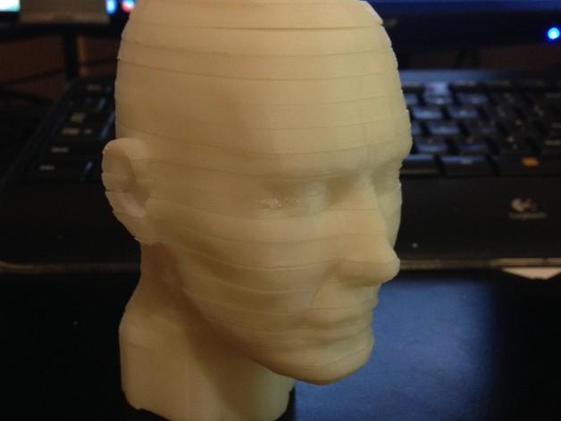 旋转人像 3D打印模型渲染图