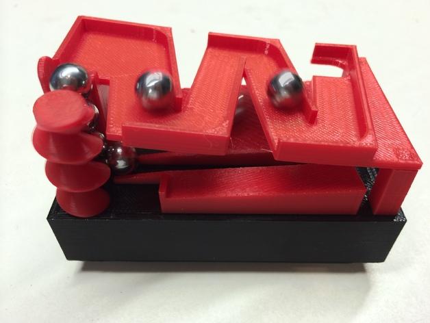 Z字形滚珠滑道 3D打印模型渲染图