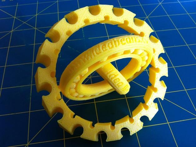球状承轴 3D打印模型渲染图