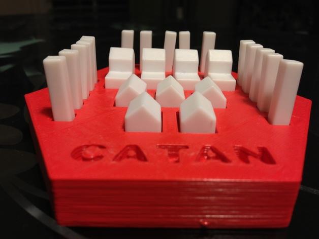 卡坦岛方块盒 3D打印模型渲染图