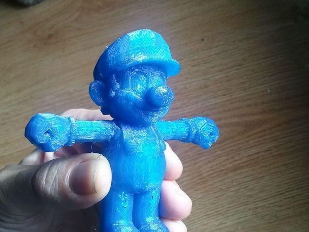 马里奥 3D打印模型渲染图