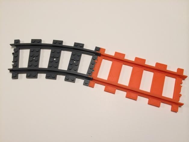 乐高火车车轨 3D打印模型渲染图
