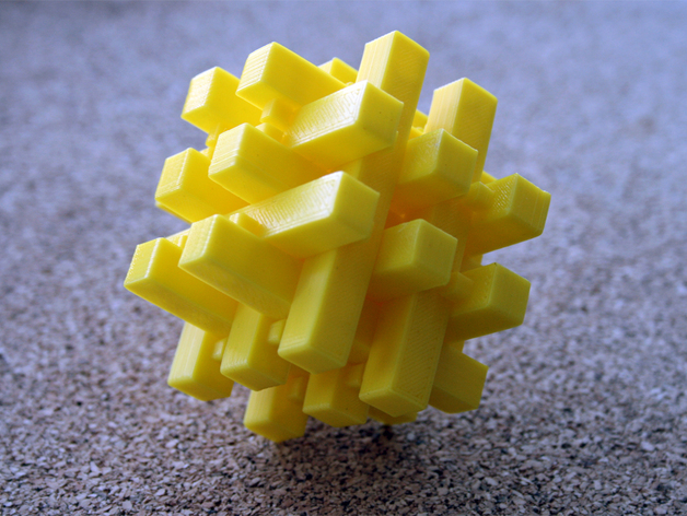 积木 3D打印模型渲染图