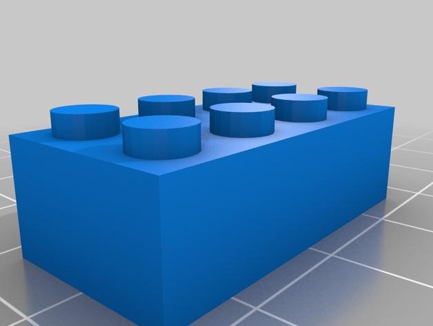 乐高方块 3D打印模型渲染图