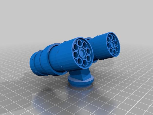 导弹发射台 3D打印模型渲染图