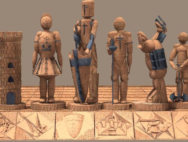 古董象棋 3D打印模型渲染图