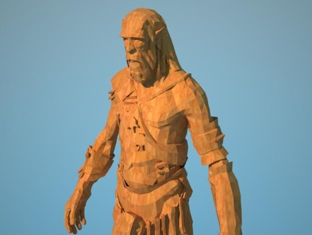 《上古轴卷5天际》巨人 3D打印模型渲染图