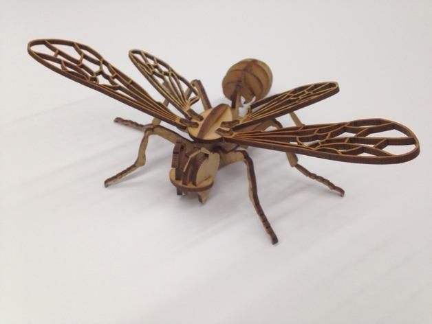 蜜蜂拼图 3D打印模型渲染图