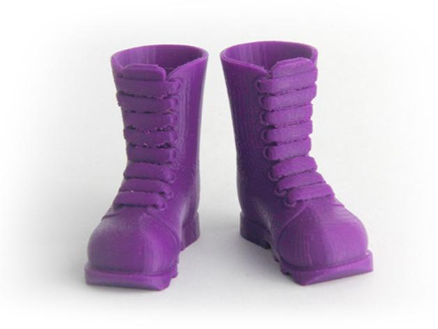 迷你靴 3D打印模型渲染图