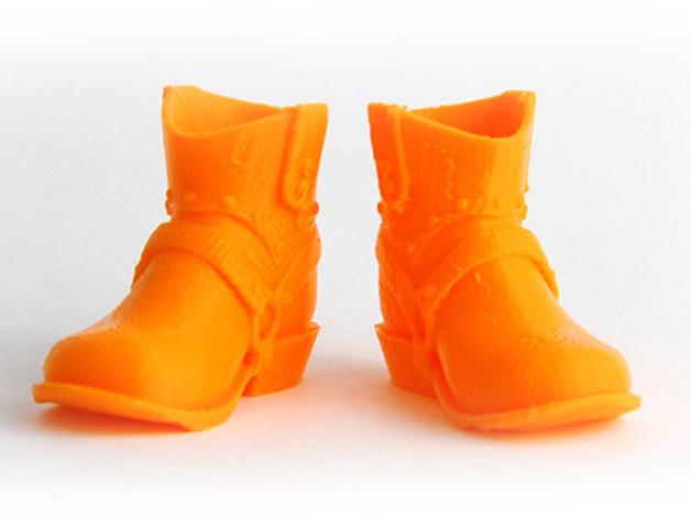 牛仔靴 3D打印模型渲染图