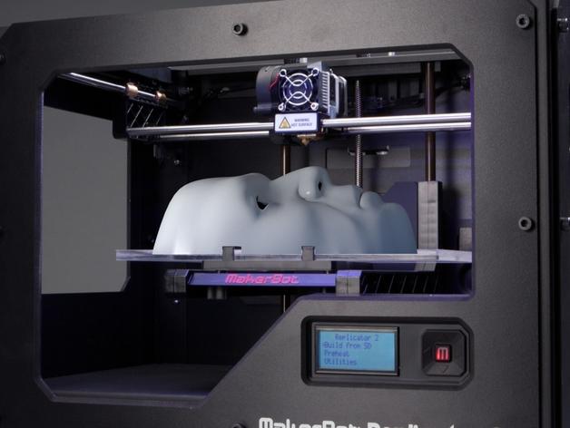面具 3D打印模型渲染图