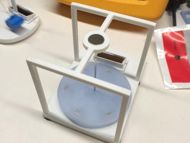 太阳能电动马达 3D打印模型渲染图