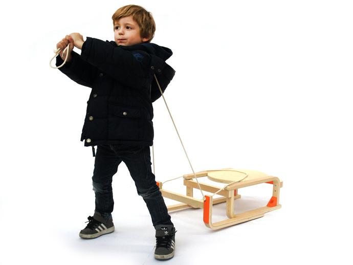 DIY雪橇 3D打印模型渲染图