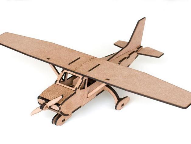 赛斯纳飞机 3D打印模型渲染图