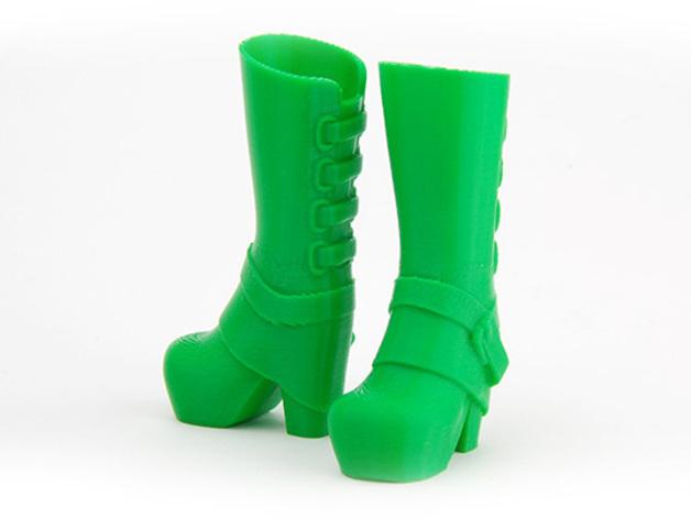 长筒靴 3D打印模型渲染图