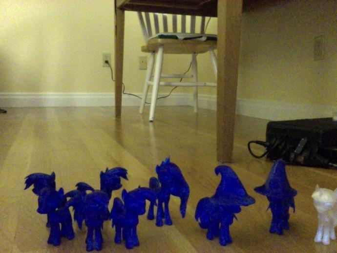 迷你小马驹 3D打印模型渲染图