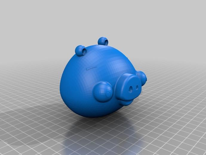 绿头猪 3D打印模型渲染图