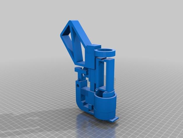 航天发射器 3D打印模型渲染图