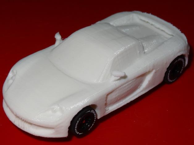 HO槽轨车 - 保时捷Carrera GT 3D打印模型渲染图