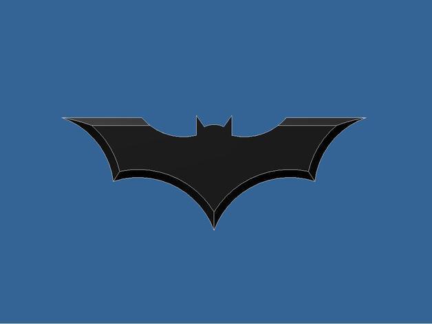 蝙蝠型飞镖 3D打印模型渲染图