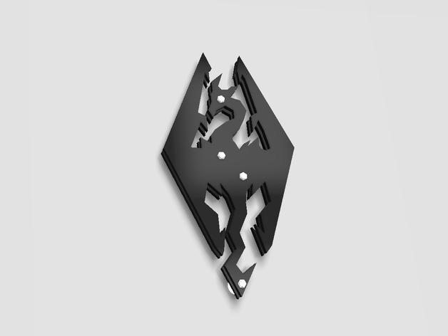 天际标志的钥匙扣 3D打印模型渲染图