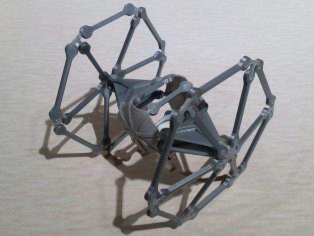 钛战机 3D打印模型渲染图