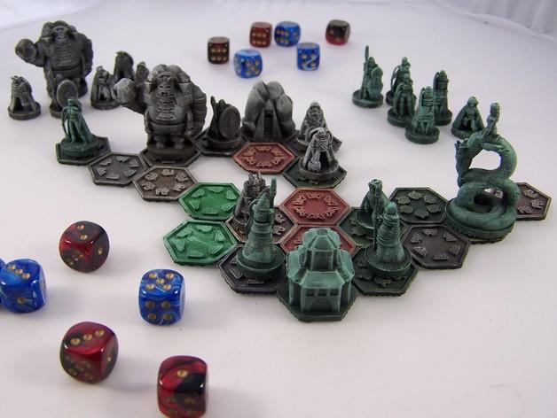 Pocket-Tactics:精灵VS.矮人 3D打印模型渲染图