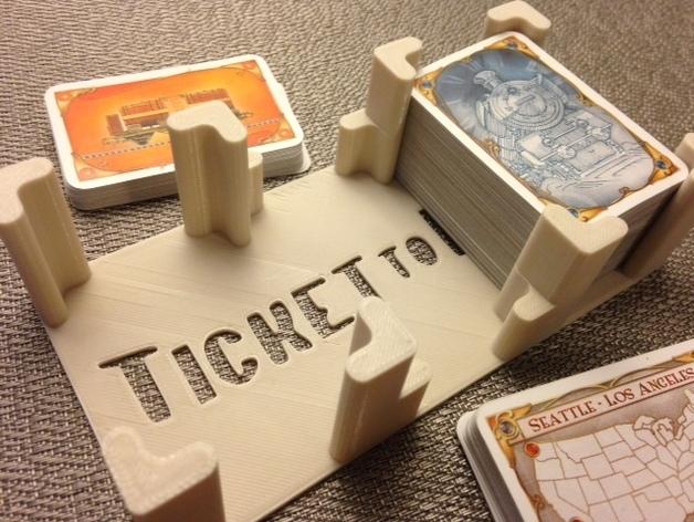 《车票之旅》游戏卡盒 3D打印模型渲染图
