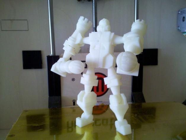 国际象棋机器人玩偶 3D打印模型渲染图