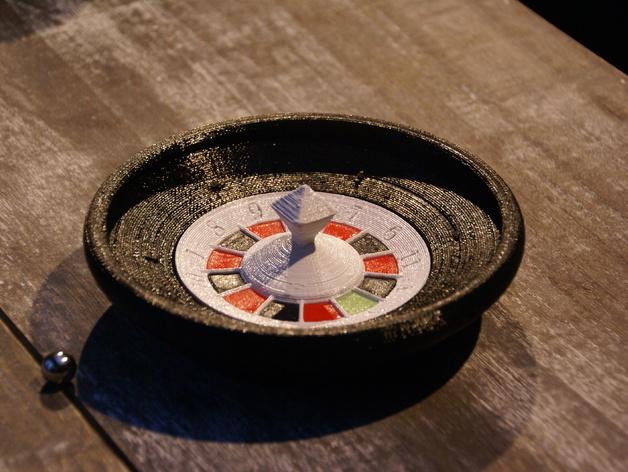 轮盘赌游戏 3D打印模型渲染图