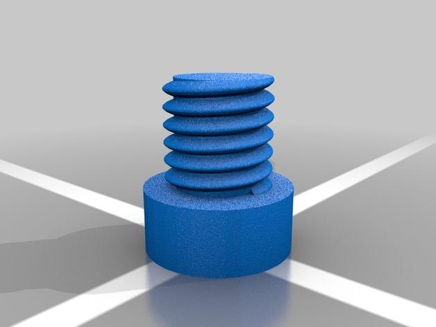 螺母和空心螺丝 3D打印模型渲染图