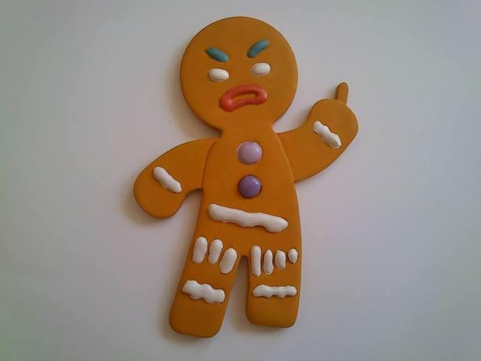 姜饼人饼干切割刀 3D打印模型渲染图