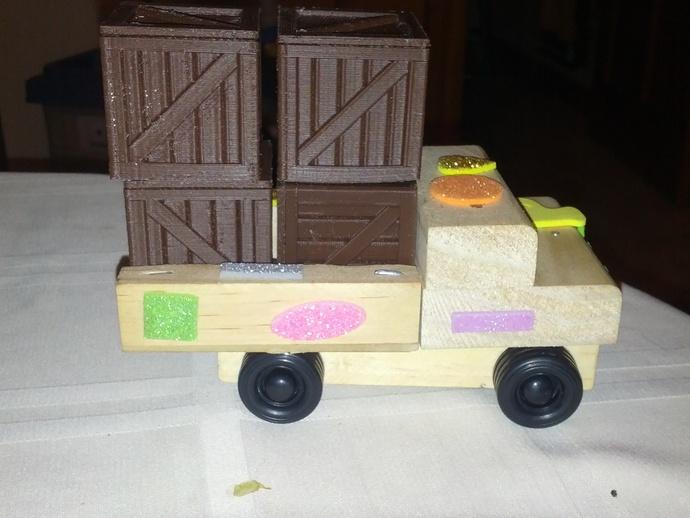 空心玩具板条箱 3D打印模型渲染图