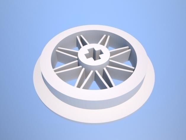 1:32乐高玩具火车车轮 3D打印模型渲染图