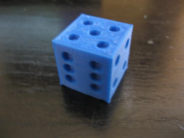 六面骰子 3D打印模型渲染图